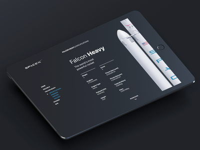SpaceX Website Concept future ux ui web design website space rocket ipad falcon9 falcon spacex