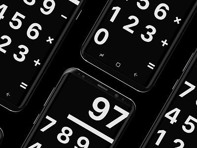 """CALCULATOR"" minimalism minimalist numbers app darkmode dark theme black calculator"