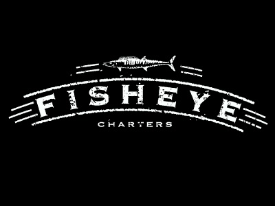 Fish Eye Charters logo fishing fish grunge texture t-shirt brand aid