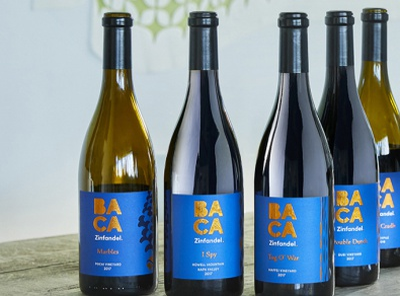 BACA Zinfandel branding wine labels brand aid wine bottle winery wine branding wine label designer wine label design wine label wine