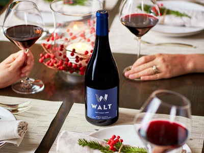 WALT Wines wine glass wine bottle branding wine branding wine label designer wine label design wine labels wine label wine