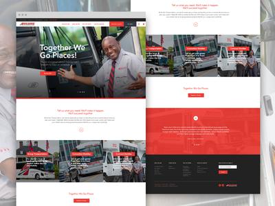 Anchor Transportation brand aid branding ui ux website