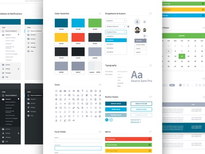 Dashboard UI ui style guide style guide ui elements colors web design website ux ui dashboard brand aid