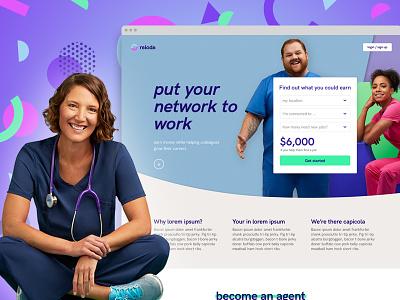 Relode Pricing Calculator healthcare brand aid calculator marketing website nurse