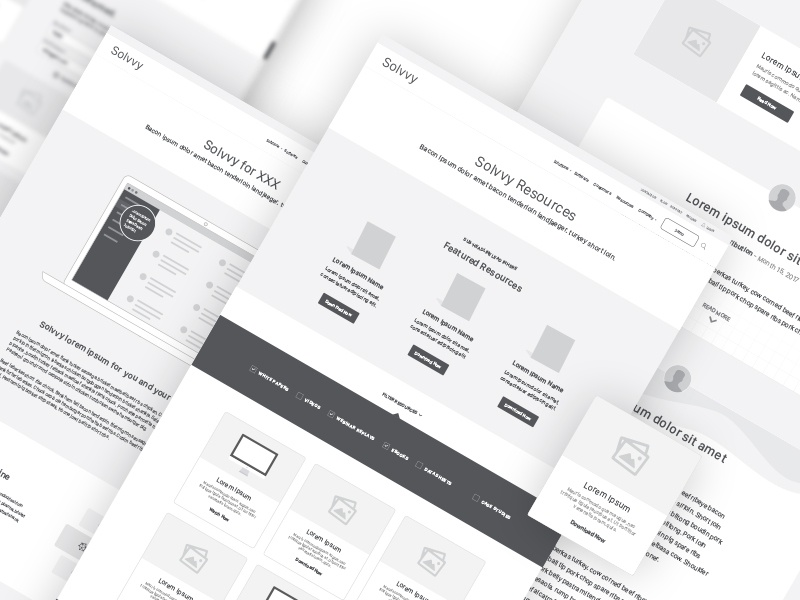Solvvy, Content Strategy & UX content strategy wireframes ux ui discovery brand aid