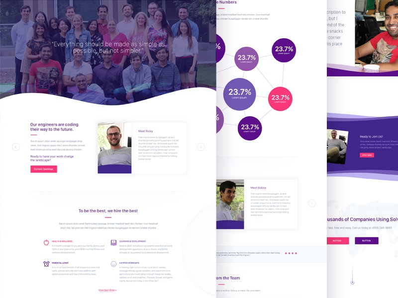 Solvvy, Careers Page design interface website ux ui branding brand aid