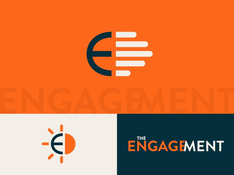 The Engagement banner bible 3d e identity logo design branding brand aid