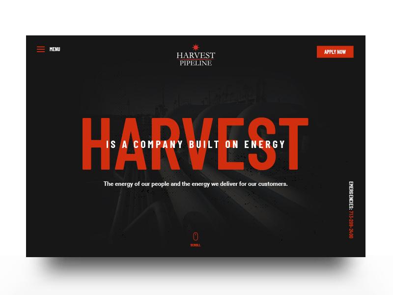 Harvest Pipeline design interface website ux ui branding brand aid
