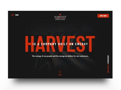 Harvest Pipeline design interface website ux ui branding brand aid
