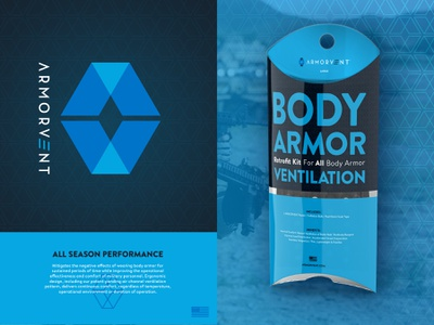 ARMORVENT Pillow Packaging brand aid packaging identity logo branding pillow box body armor tactical