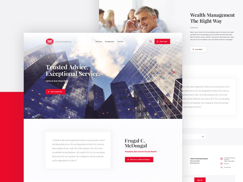 Financial Lander parallax interface website ui ux financial finances wealth