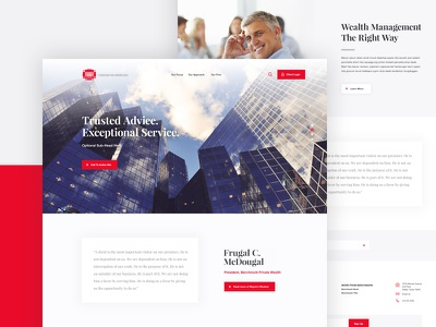 Financial Lander parallax interface website ui ux financial finances wealth