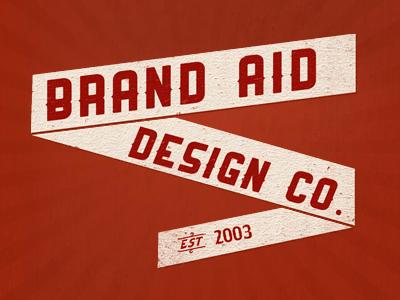 Brand Aid Banner red retro background texture brand aid banner identity branding logo design logo design