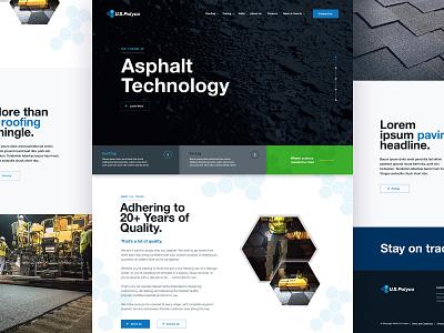 U.S. Polyco responsive design brand aid webdesign website ux ui branding asphalt