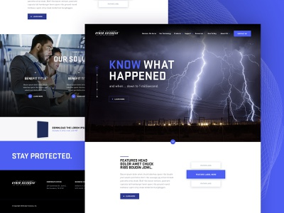 Cyber Sciences interface brand aid design ux ui website design website science and technology
