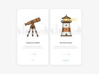 Onboarding telescope lighthouse onboarding travel