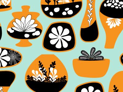 POTW #20: Terrific Terrarriums repeat terrariums succulents seamless weekly pattern mod