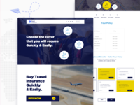 Travel Insurance Provider Concept responsive web design web page web site web design ux design ui design form design landing page design design section service policy insurance company tourism travel traveling