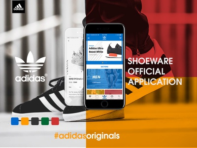 Adidas Originals app concept sports shot user interface design user interface concept application shoeware originals adidas ux ui