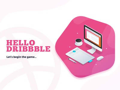 The Beginning second welcome shot basketball dribbble hello game shot