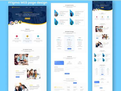 Figma WEB page design illustration vector design ux web page figma landing page uiux ui logo branding graphic design