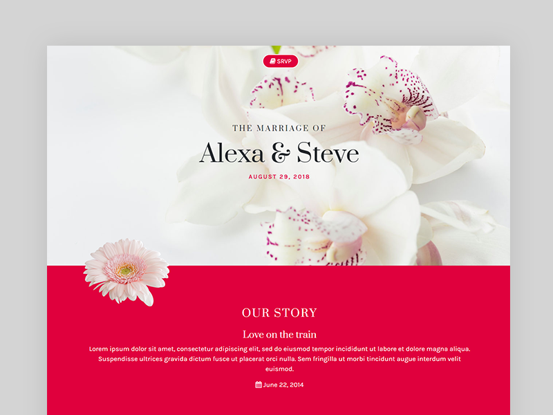 Heart Is One Page Responsive Wedding Invitation Built With Bootstrap V4 Html5 And Css3 Suitable For Invitations Anniversaries Celebration