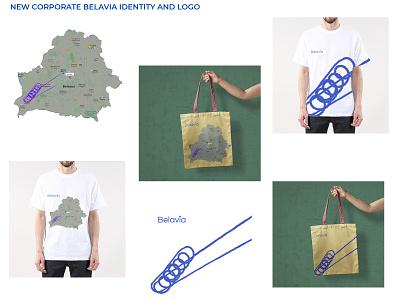 BELAVIA NEW CORPORATE IDENTITY 3d app augmented reality ar animation motion graphics branding 2d ux ui web identity logo design belarus illustration graphic design