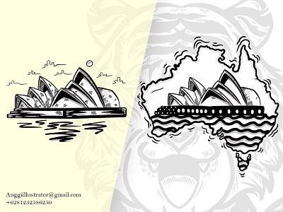 Opera House Sydney vector opera house hand drawn design illustration
