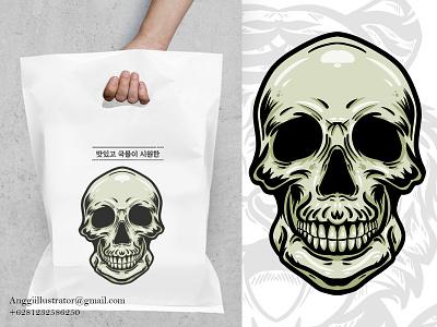 skull merchandise design illustration human man animal cartoon vector illustration hand drawn design merchandise skull