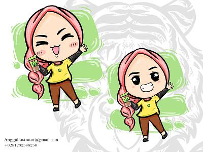 cute cartoon woman character vector illustration character cute woman girl cartoon vector illustration hand drawn design