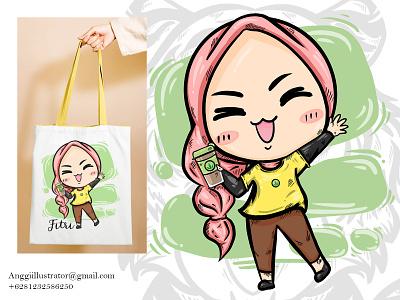 Cute Woman cartoon character Vector Illustration cartoon vector illustration hand drawn design emoticon cute woman character