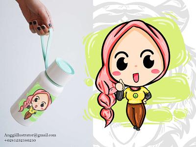 Cute Woman Cartoon Character Vector Illustration cartoon vector illustration hand drawn design character cute woman