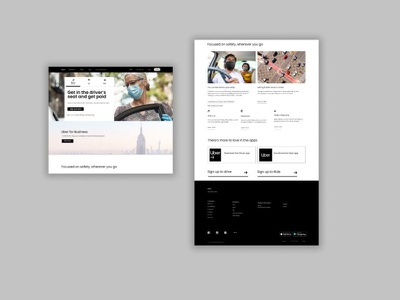 Uber PK Landing Page UX Design - Replica   Figma ux design user experience uiux 3d animation ui