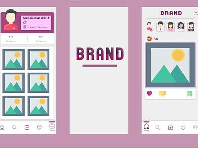 Social Media App - Adobe XD ux 3d illustration design user experience ui animation uiux adobe xd