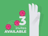 3 Dribbble Invitations Available