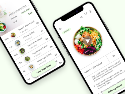DailyUI 040 Recipe app ui design dailyui