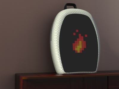 Backpack with 8 bit LCD Display cad 3d cad digitalart 3d modelling keyshot futuristic lcd display backpack ideas ideas photorealistic concept innovation bag aesthetic