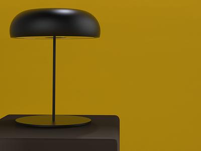 Portable Lamp Disc as Standard Lamp studio plastic disc portable lamp ikea home ideas lamp keyshot ideas design concept 3d modelling 3d cad aesthetic