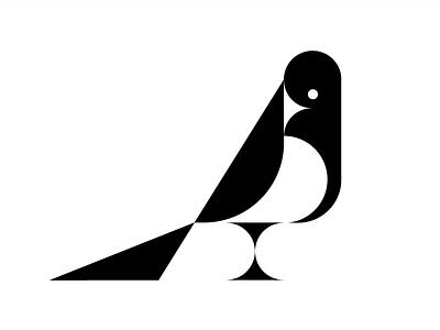 Magpie pica magpie bird symbol mark illustration logo design logo
