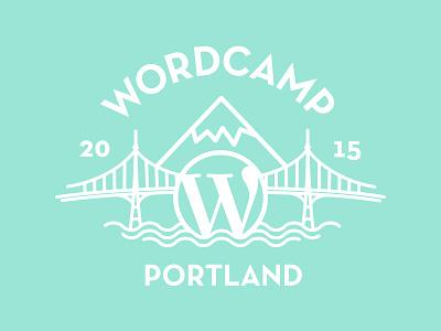 Wordcamp Portland mountain bridge portland logo conference wordpress wordcamp