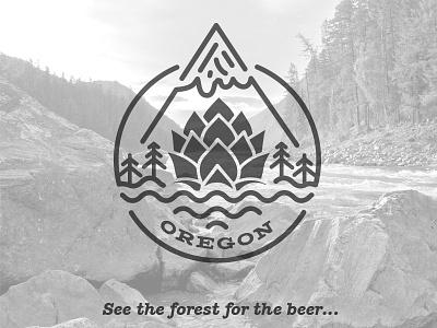 Brewshed Brewfest oregon portland watershed forest badge mountain hops beer brewfest brewshed