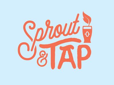 Sprout & Tap glass pint plant vegetarian vegan tap beer
