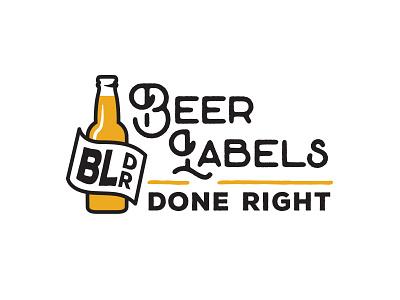 Beer Labels Done Right Logo label beer bottle logo craft beer beer