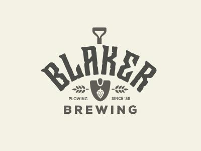 Brewing Logo farm farming shovel reject logo craft beer beer