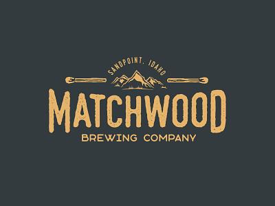 Matchwood Brewing matchstick idaho logo beer brewery