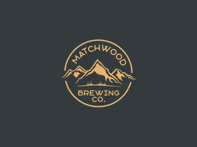 Matchwood Brewing brewery brewing badge idaho mountains beer