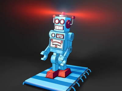 Toy Robots bendy limbs rig cell shading after effects character animation 3d animation c4d cinema4d