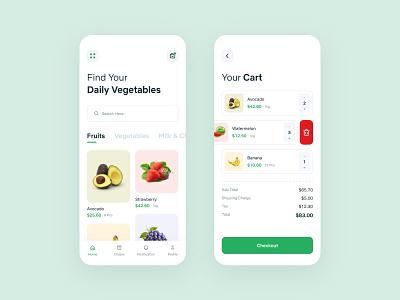 Grocery App icon ui ux typography design branding app