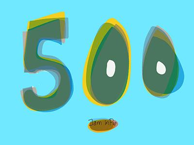 500 - Likes in Jam inPie paperapp 500 repeat overlays numbers typo