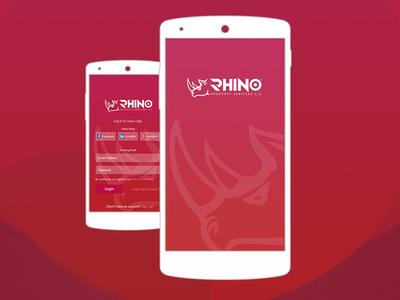 Rhino Properties Branding mobile application logo